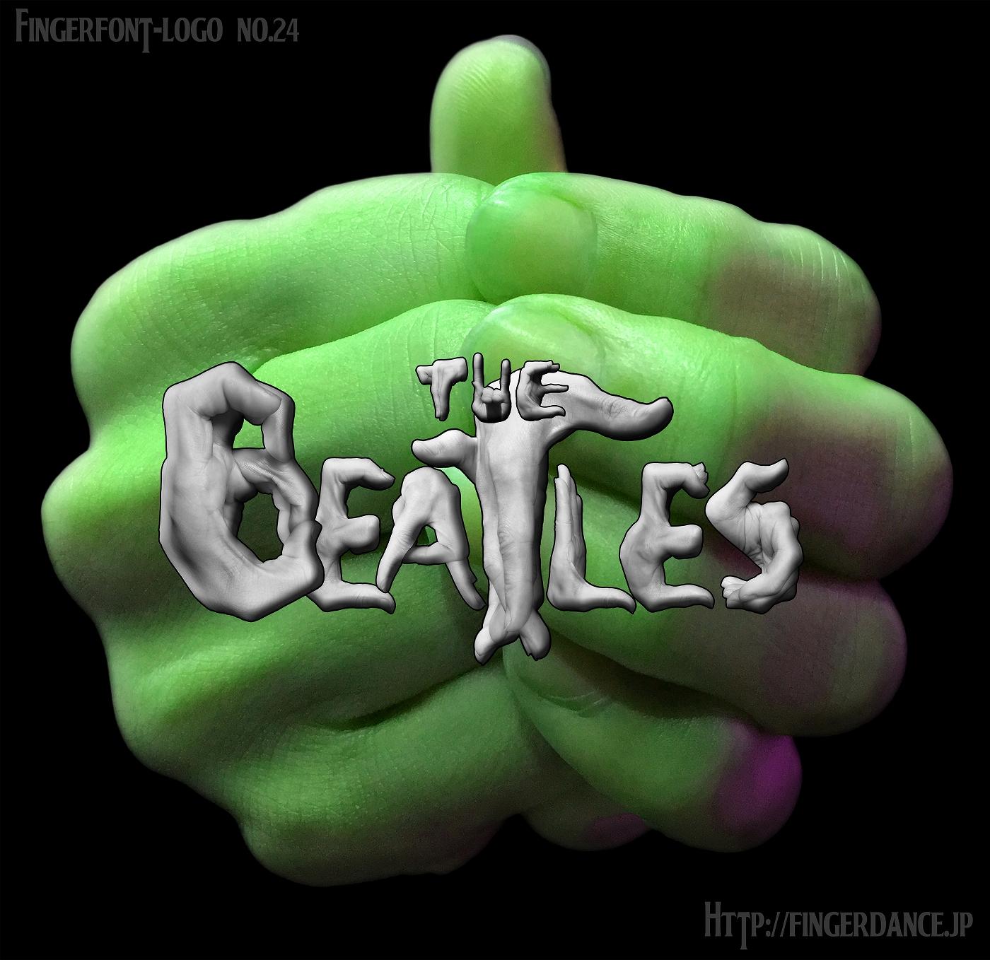 TheBeatles-ザ・ビートルズ・フィンガーロゴハンド 手指字