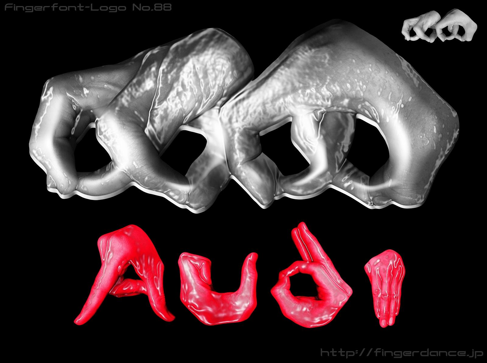 Audi-fingerhttp://fingerdance.jp/L/logohand アウディ・フィンガーロゴハンド手指
