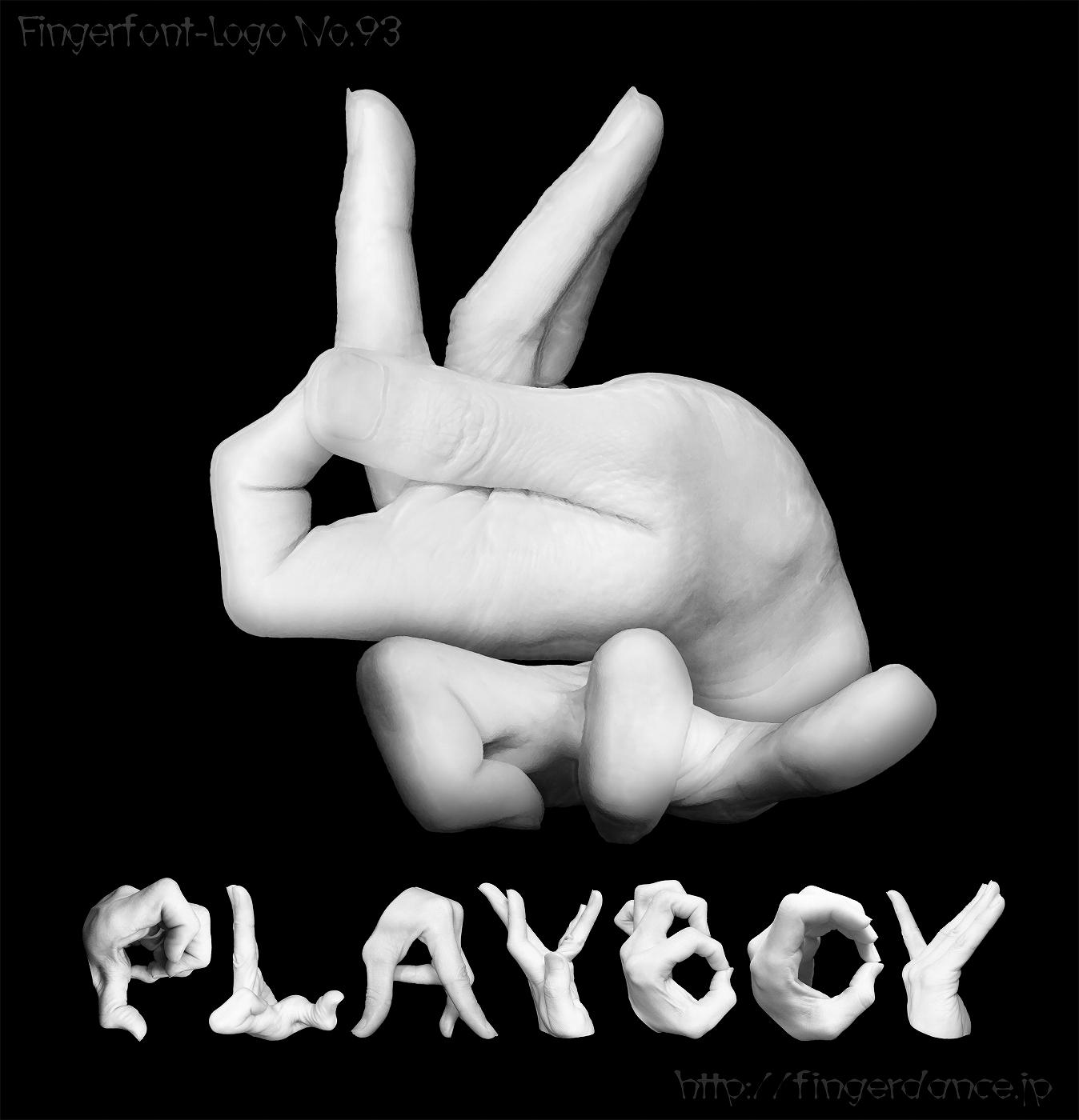 PlayBoy-fingerlogohandプレイボーイ・フィンガーロゴハンド手指